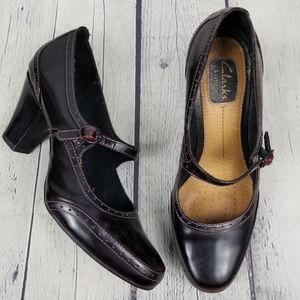CLARKS | Artisan maryjane oxford heels shoes